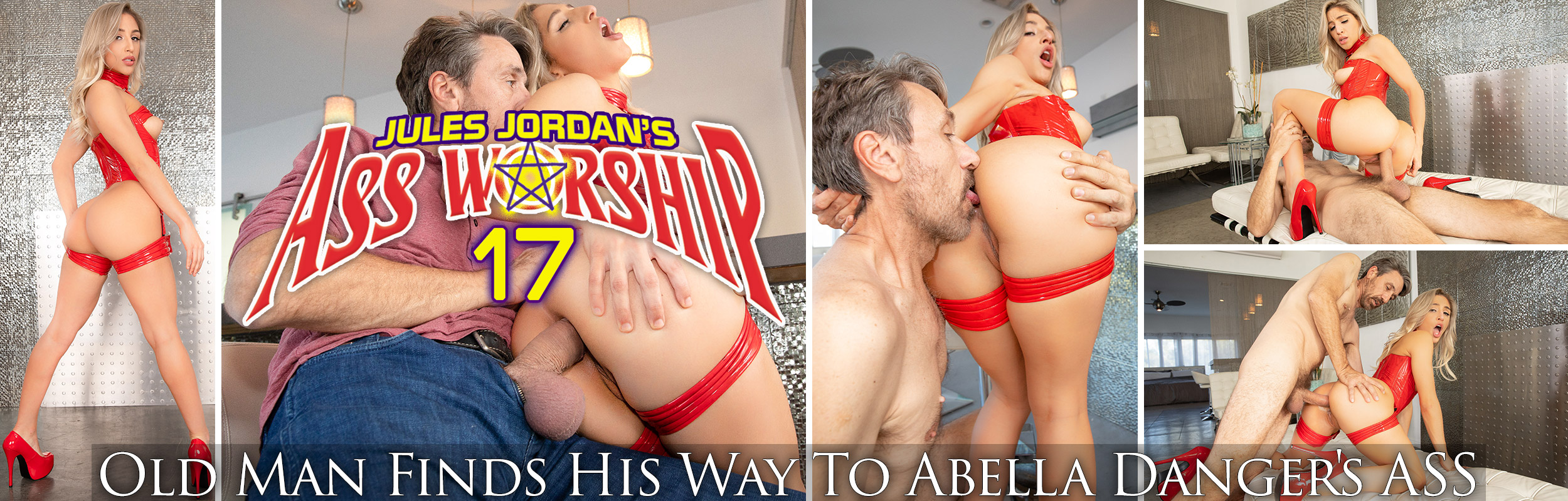 Old Man Finds His Way To Abella Danger's ASS