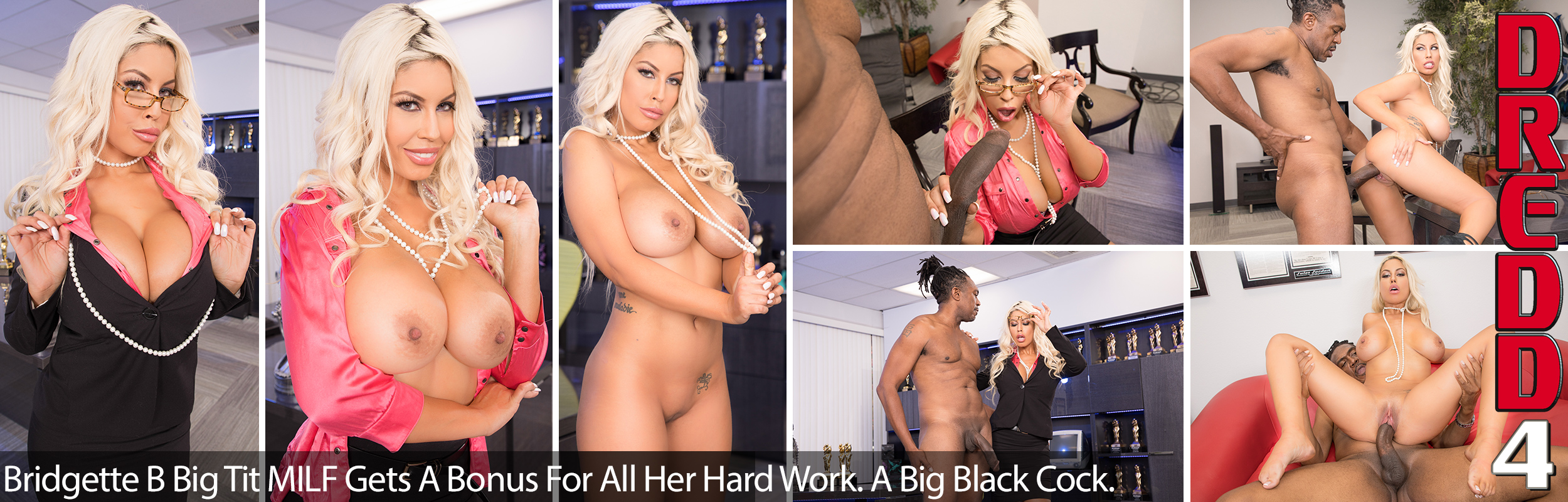 Bridgette B Big Tit MILF Gets A Bonus For All Her Hard Work. A Big Black Cock.
