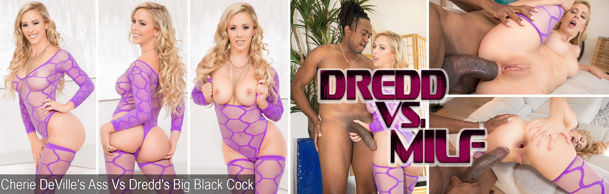 Cherie DeVille's Ass Vs Dredd's Big Black Cock