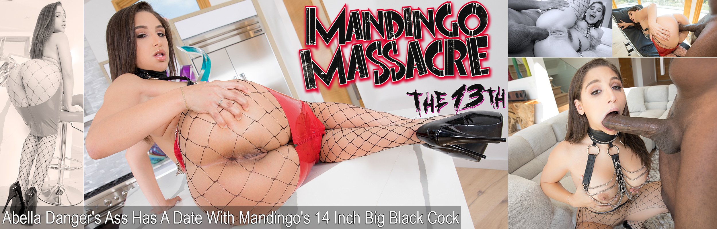 Abella Danger's Ass Has A Date With Mandingo's 14 Inch Big Black Cock