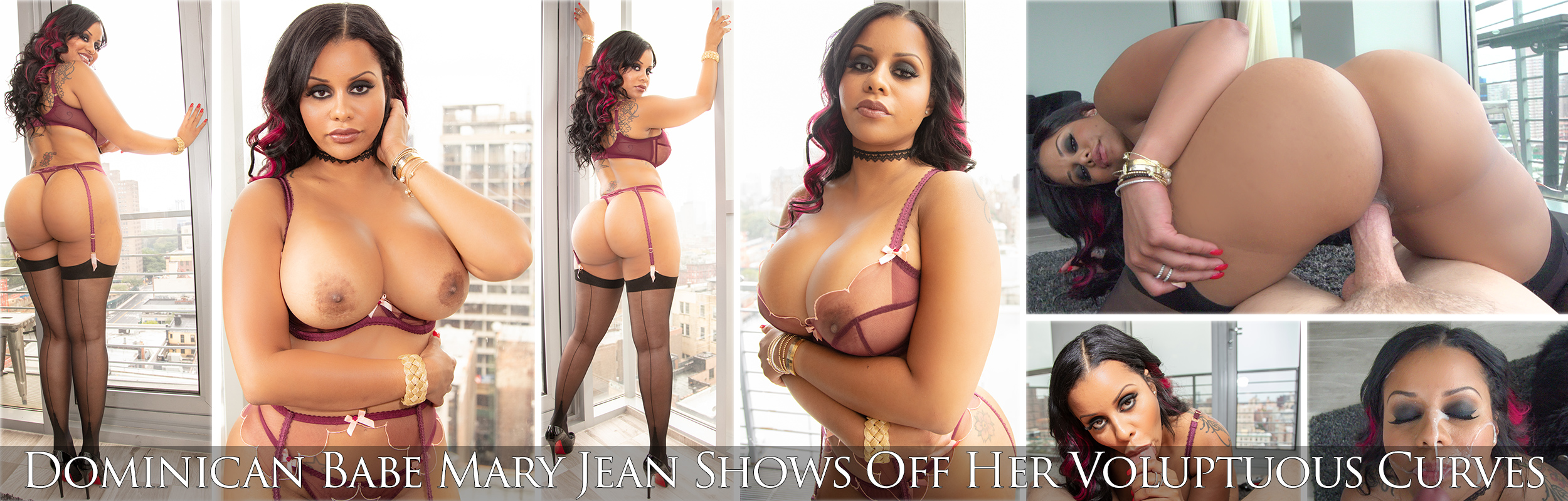 Dominican Babe Mary Jean Shows Off Her Voluptuous Curves