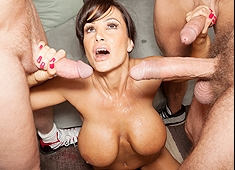 Lisa Ann Rare DP Training at Anal Boot Camp