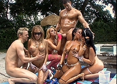 Summer Time Orgy Pool Party