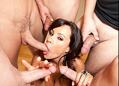 Lisa Ann Drinks A Sperm Cocktail