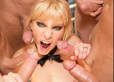Ashley Fires First Gang Bang All Holes Fulfilled