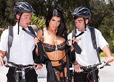 Romi Rain Seduces Two Young Servants Of The Lord