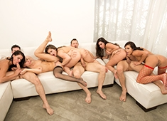 Orgy Masters Sex Party, Their Tongues Are Out, They Need More Cum In Their Mouth!