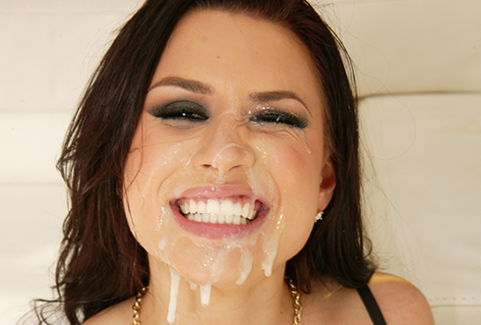 Eva angelina gets monster facial