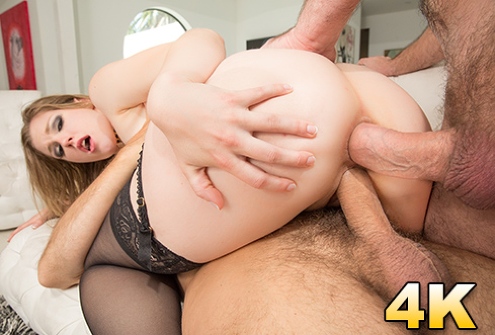 Ella Nova Gets DP'd, That Ass Can Handle What Her Pussy Can't