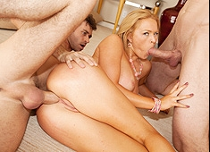 Krissy Lynn Anal With Two Guys
